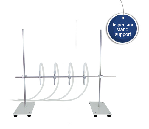 Dispensing  stand support